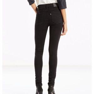 Levi's 721 High Rise Skinny Jeans Black sz 26